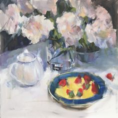 Strawberries, at American Art Company Gallery by Barbara Benedetti Newton, Oil, 20 x 20 Portraits, Small Paintings, Fine Art Gallery, Figurative Art, American Art, Art For Sale, Art Boards, Contemporary Art, Strawberries