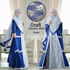 grafi electric syari Rp125rb, maxi tgn pjg, tgn karet, pinggang bl kg karet, bergo no pad spandex korea kombi brukat, ld 100 smp 110 pjg 135 lbr kaki 208 berat 900gram  contact us  FB fanpage: Toko Alyla  line@: @alylagamis  WA: 0812-8045-6905    toko online baju muslim  gamis murah  hijab murah  supplier hijab  konveksi gamis  agen jilbab