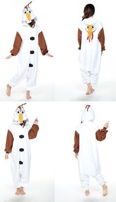 frozen Anime  olaf The Snowman  onesies Couples  pajamas  partycostume   kigurumi 841f329db2580