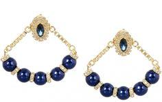 MAWI Swarovski Crystal Hoop Earrings / Multicouleur / Métal
