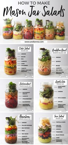 6 Mason Jar Salad Recipes You Should Know For Easy Healthy Lunches, Easy Healthy Jar Lun. - Mason Jars - 6 Mason Jar Salad Recipes You Should Know For Easy Healthy Lunches, Salad Recipes Healthy Lunch, Chicken Salad Recipes, Healthy Snacks, Healthy Eating, Spinach Recipes, Healthy Kids, Clean Eating Lunches, Easy Healthy Lunch Ideas, Diet Salad Recipes