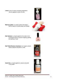 K to 12 nail care learning module Nail Art nail art grade 8 module School Forms, Nail Hardener, Acetone, Manicure, Nails, Tumblr Quotes, Beautiful Nail Designs, Nail Care, Lotion