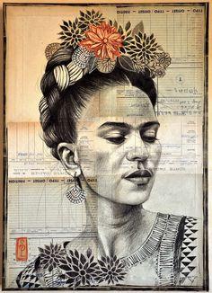 Drawing Portraits - Stphanie Ledoux - Carnets de voyage Frida par Stphanie Ledoux Discover The Secrets Of Drawing Realistic Pencil Portraits.Let Me Show You How You Too Can Draw Realistic Pencil Portraits With My Truly Step-by-Step Guide. Portrait Au Crayon, Pencil Portrait, Graffiti, Kahlo Paintings, Art Sur Toile, Frida And Diego, Frida Art, Ledoux, Diego Rivera