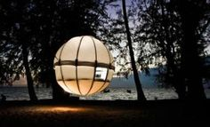 Cocoon Tree is a 130-pound tree house that can be assembled in less than two hours. It sleeps two adults and two children and comes complete with mattress and duvet. [Inhabitat]