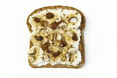 banana hazelnut ricotta toast. rabbit food for my bunny teeth