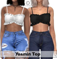 Lumy Sims – Yasmin Top for The Sims 4 Sims 4 Teen, Sims Four, Sims Cc, Sims 4 Mods Clothes, Sims 4 Clothing, Female Clothing, Cc Top, Sims 4 Black Hair, Sims 4 Dresses