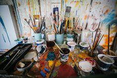 Jennifer Chenoweth's studio. Photo by Edgar Valdes.