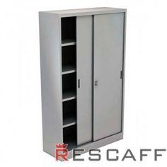 Armadi metallici per l'ufficio con ante scorrevoli, prodotti in Italia e distribuiti da Rescaff Commerciale
