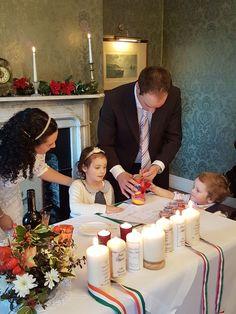 Jane & Janos Humanist wedding by Joe Armstrong Ghan House 28 Dec 2017 Joe Armstrong, Weddings, Table Decorations, Celebrities, House, Celebs, Home, Wedding, Marriage