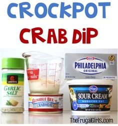 Planning a party? Check out this BIG List of Delicious Dip Recipes! Crockpot Crab Dip Crockpot Bacon Cheesy Onion Dip World's Easiest Guacamole! Crockpot Spicy Buffalo Dip Crockpot French Onion D. Slow Cooking, Cooking Steak, Cooking Salmon, Appetizer Dips, Appetizer Recipes, Appetizer Crockpot, Crockpot Crab Dip, Crab Dip Recipes, Canned Crab Recipes