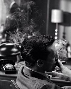 Don Draper (Jon Hamm) ~ Mad Men Episode Stills ~ Season Episode 1 ~ Smoke Gets In Your Eyes Mad Men Don Draper, John Hamm, Cigar Art, Men Photography, Family Values, Life Is Good, How To Memorize Things, Seasons, Mood