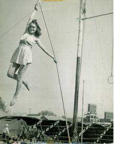 Mary Henry on Spanish Web,Cronin Bros. Circus.