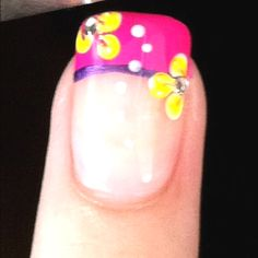Tropical nails that would be perfect for spring break. Manicure Ideas, Manicure And Pedicure, Nail Ideas, May Nails, Hair And Nails, Beach Nails, Finger Nails, Toe Nail Designs, Types Of Nails