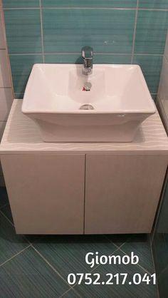 Giomob White bathroom furniture/ Mobila de baie din Mdf alb