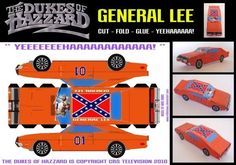 1969`s Dodge Charger General Lee Paper Model - by Mike Daws  ==          From Dukes of Hazzard, 80`s tv series, here is the legendary General Lee, in a cool paper version by British designer Mike Daws.