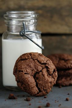 Chocolate Chocolate Chip Cookies by My Baking Addiction