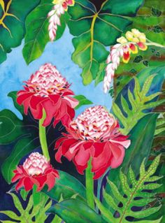 Jocelyn Cheng Art :: Hawaii artist - tropical, floral, botanical, asian, marine watercolor paintings