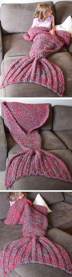 Entzuckend STRICK Anleitung Für Die Meerjungfrauen Decke Ich Würde Es Folgendermaßen  Nach STRICKEN: