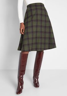 Attend lectures and presentations with straight-A style in this navy blue skirt! Part of our ModCloth namesake label, this plaid midi comes with handy.