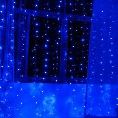 LED Window Curtain String Light - Controller Twinkle Party Home Garden Bedroom Outdoor Indoor Wall Decorations.(Blue) - Blue - LED Window Curtain String Light – Controller Twinkle Party Home G Dark Blue Wallpaper, Blue Wallpaper Iphone, Blue Wallpapers, Wallpaper Roll, Blue Aesthetic Grunge, Rainbow Aesthetic, Aesthetic Colors, Led Color, Color Blue