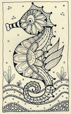 Moleskin whimsical seahorse