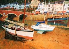 Richard DACK-Looe - Paintings of seaside towns in the UK at the www.redraggallery.co.uk