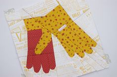 Gardening Gloves Paper Pieced Pattern by DuringQuietTime on Etsy Paper Pieced Quilt Patterns, Farm Quilt, Quilting Rulers, Foundation Paper Piecing, Gardening Gloves, Quilt Blocks, Applique, Organic Gardening, Organic Farming