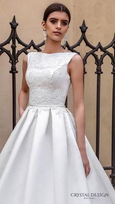 crystal design bridal 2016 sleeveless boat neckline embroidered bodice elegant a  line ball gown wedding dress lace illusion back royal train (ninelli) zv