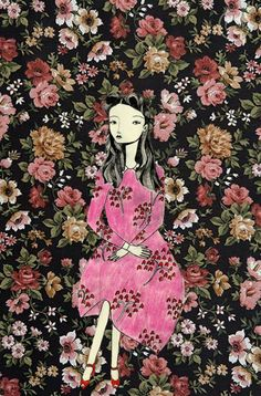 Illustration by Katy Smail at Kate Ryan Inc. Art Amour, Street Art, Art Et Illustration, Art Design, Art Plastique, Love Art, Oeuvre D'art, Illustrators, Art Photography