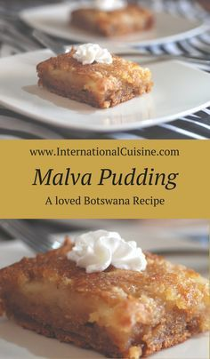 Botswana- Malva Pudding - susanne - Botswana- Malva Pudding Malva pudding is actually more like a cake but it will be the most moist cake you have had. A beloved recipe in Botswana and popular throughout South African countries. Pudding Recipes, Cake Recipes, Dessert Recipes, Dessert Ideas, Malva Pudding, Party Dishes, South African Recipes, Cream Cheese Recipes, Moist Cakes