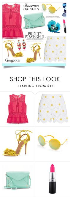 """""""The brightest star!"""" by anchilly23 ❤ liked on Polyvore featuring Sea, New York, Dolce&Gabbana, Aquazzura, Beauty & The Beach, Apt. 9, MAC Cosmetics and Ranjana Khan"""