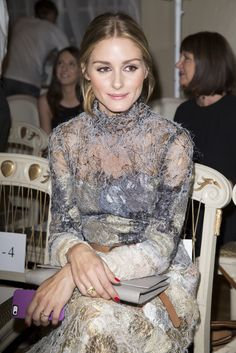 Olivia Palermo Photos - Olivia Palmero attends the Marchesa show during London Fashion Week Spring Summer 2015 at on September 2014 in London, England. Olivia Palermo Lookbook, Olivia Palermo Style, Celebs, Celebrities, Who What Wear, Timeless Fashion, Front Row, Nice Dresses, Celebrity Style
