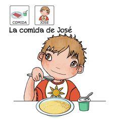 """""""La comida de José"""" - Proyecto sin ánimo de lucro que consiste en la creación, producción y difusión de cuentos infantiles adaptados a pictogramas para niños con autismo y otras necesidades especiales de aprendizaje, http://www.aprendicesvisuales.com/cuentos/"""