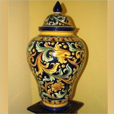 Vaso Ornamentale - Ceramiche Artistiche di Caltagirone - La Ceramica di Caltagirone