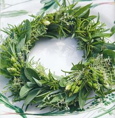 "bouquet garni wreath (La Pouyette....: ""a table...."" - Outdoor) centerpieces ( canadian receptionn)"