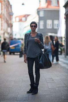 Enja in Isabel Marant via  Stockholm Street style