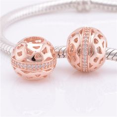 925 Sterling Silver With Rose Colour 14KT Rose Gold by AlissaBead