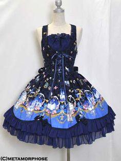 Metamorphose Brilliant Princess pinafore dress navy