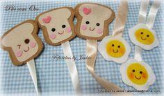 Ownnnn, quem quer pão?????   Usei o molde da Karin Montone e amei de paixão o pão com ovo!   USEI como marcadores de página, mas tbm posso ...