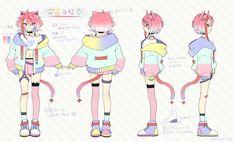 Drawing Anime Clothes, Anime Girl Drawings, Kawaii Drawings, Character Reference Sheet, Character Sheet, Female Character Design, Character Design Inspiration, Cute Characters, Anime Characters
