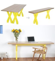 People are clever, that's for sure. Over the years, designers have come up with some ingenious ways to maximize space in smaller homes, from hanging beds to shockingly chic folding chairs, These three table options are smart additions to the club, and each one puts a new twist on the classic folding table.