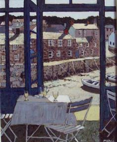 Mike Hall original 'View of the Harbour from the Cafe'