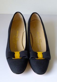 Vintage Salvatore Ferragamo Shoes/ Vara / by Justwhatawomanneeds, $100.00