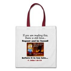 Repent and be Saved! Agrainofmustardseed.com Tote Bags