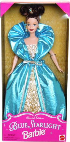 adba33bd7c6  1997 Special edition blue starlight Barbie doll 2  17125 Barbie Collector
