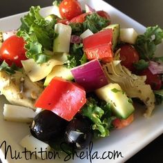 Delicious combination of foods from the Mediterranean. Anything but boring and bland. NutritionSheila.com