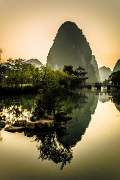The Idyllic view of 明仕田园 (Ming Shi Tian Yuan) in Guangxi, China. Photo by Wilson Chong.