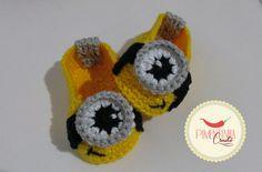 Sapatinho Minion- Pimentinha Crochê