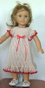 American Girl Doll Summer Raglan Dress | AllFreeCrochet.com