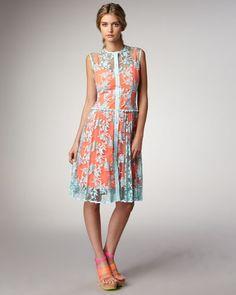 Dress- Pastel lace dress